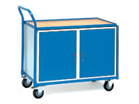 Workshop trolley 250kg with 2 cupboards
