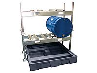 Drum rack dispensing station 2x205 ltr drum